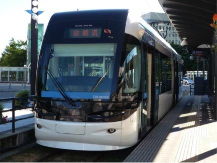 富山ライトレールの列車 富山市内 2010年8月